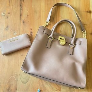 Michael Kors HAMILTON TOTE and Wallet Dusty Rose